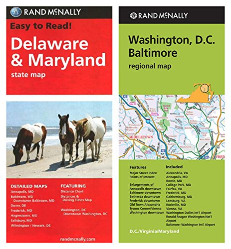 Rand McNally State Maps: Delaware/Maryland (State Map) and Washington, D.C./Baltimore (Regional Map) (2 - Baltimore Airport Of Map