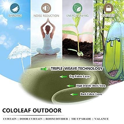Cololeaf - Cortinas de interior y exterior para patio, impermeable ...