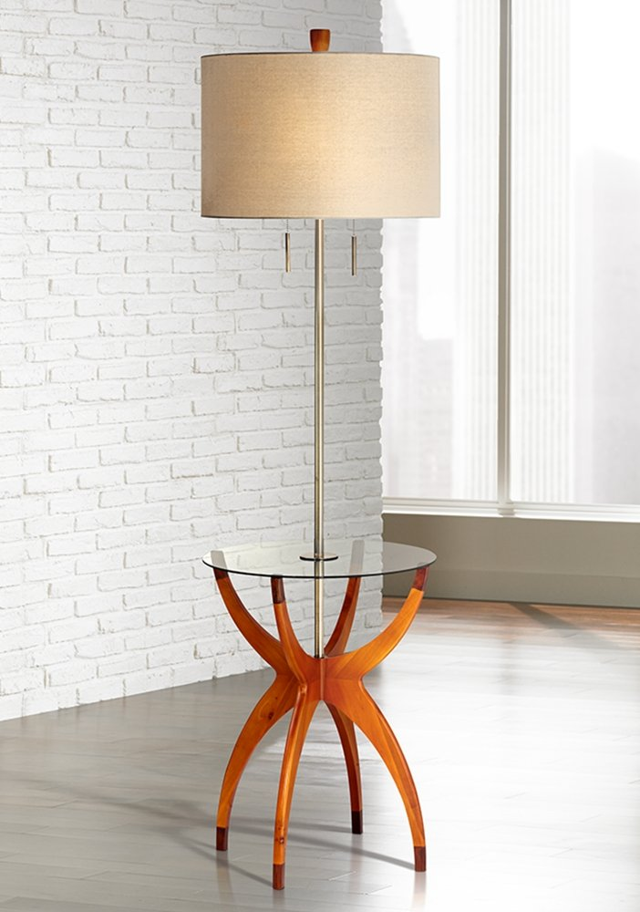 Vanguard Floor Lamp with Glass Tray Table