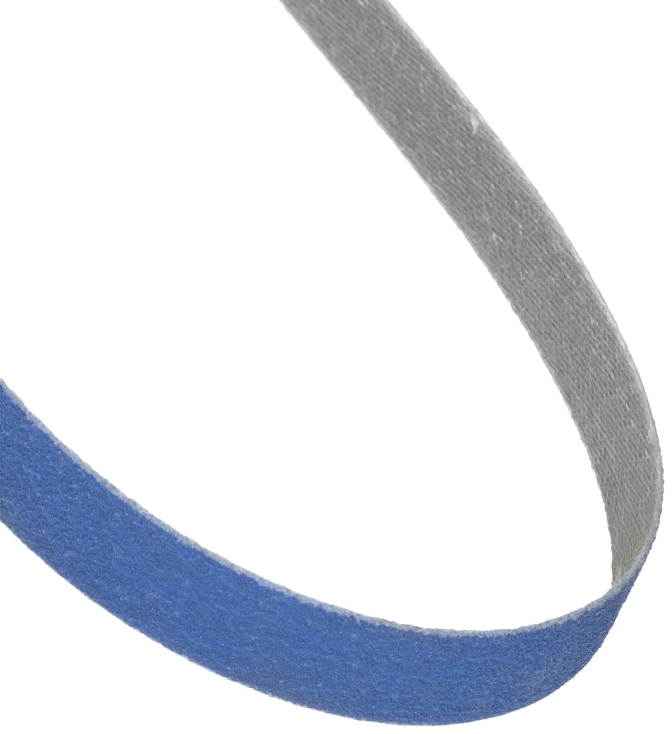Norton BlueFire R823P File Abrasive Belt, Waterproof, Polyester Backing, Zirconia Alumina, 1/2' Width, 24' Length, Grit 100  (Pack of 10) 1/2 Width 24 Length St. Gobain Abrasives 78072753076
