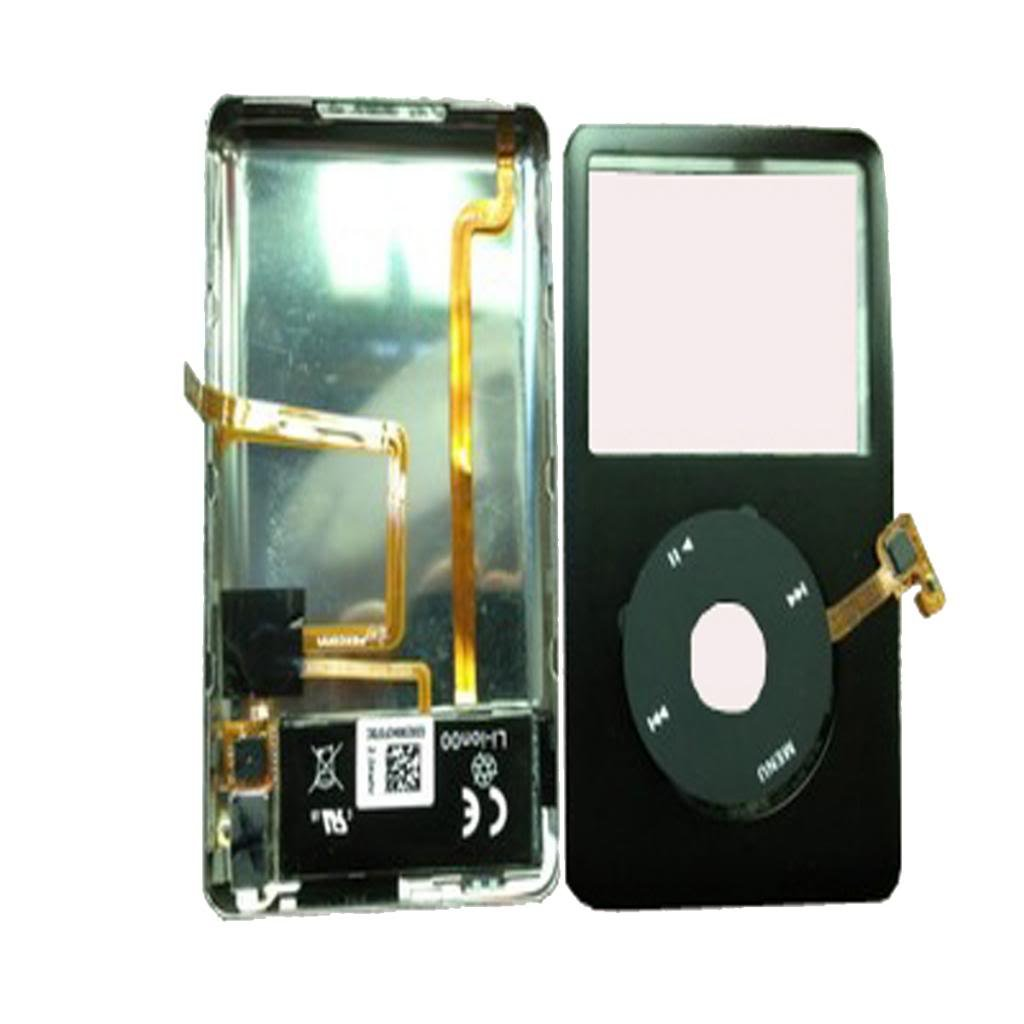 iPod Classic 6th 80gb Front/&Back cover+headphone jack+battery assymbly