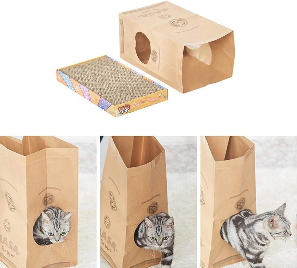 Class-Z Juguete para Animales domésticos, rascador de Caja corrugada de cartón, casa Cuadrada para Gato: Amazon.es: Productos para mascotas