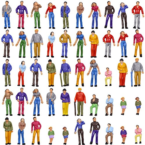 O Scale Model Train Painted Figures 1:48 Assorted Pose 100pcs