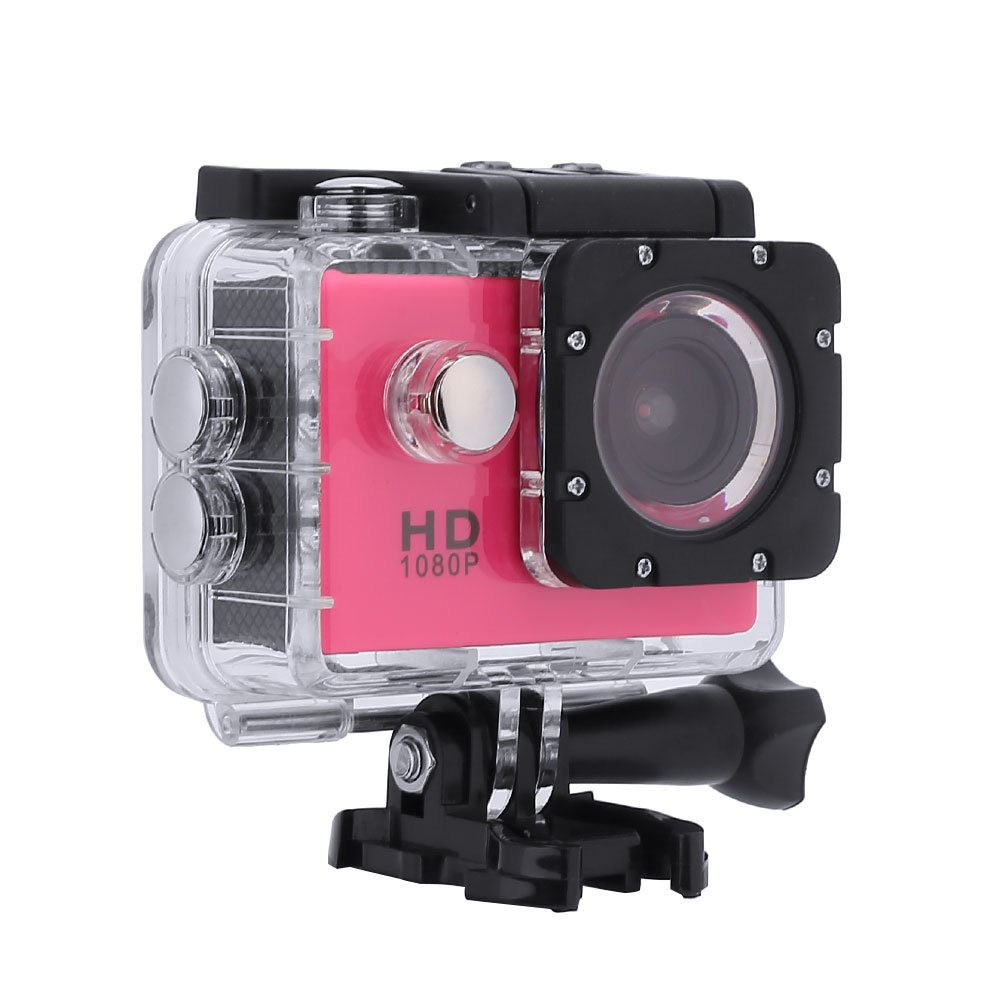TOPmountain Waterproof Digital Camera 4K Action Camera, Interpolation 1080P Ultra Hd Sport Action Camera for Outdoor-Black