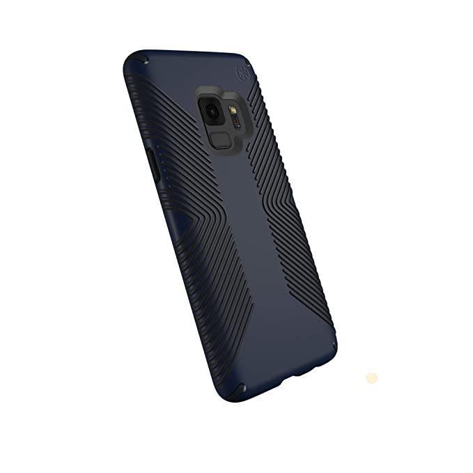 pretty nice a4ba4 cde50 Speck Presidio Grip Samsung Galaxy S9 Case, Eclipse Blue/Carbon Black