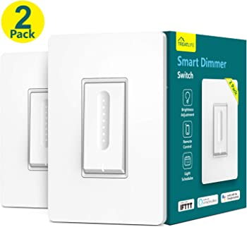 2-Pack Treatlife Smart Dimmer Switch Dimmable LED