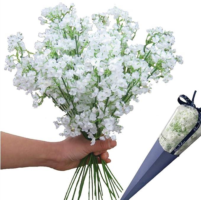 Amazon.com: 12 piezas flores artificiales Gypsophila del ...
