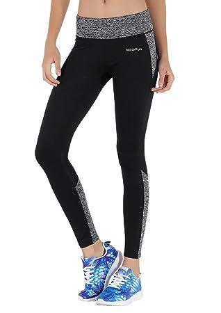9e8e13ac3d MotoRun Women's Mesh Leggings Breathable Sports Pants Exercise Capris  Strech Workout Tights Hight Waist Mesh Running Yoga Pants Active Leggings  with Mesh ...