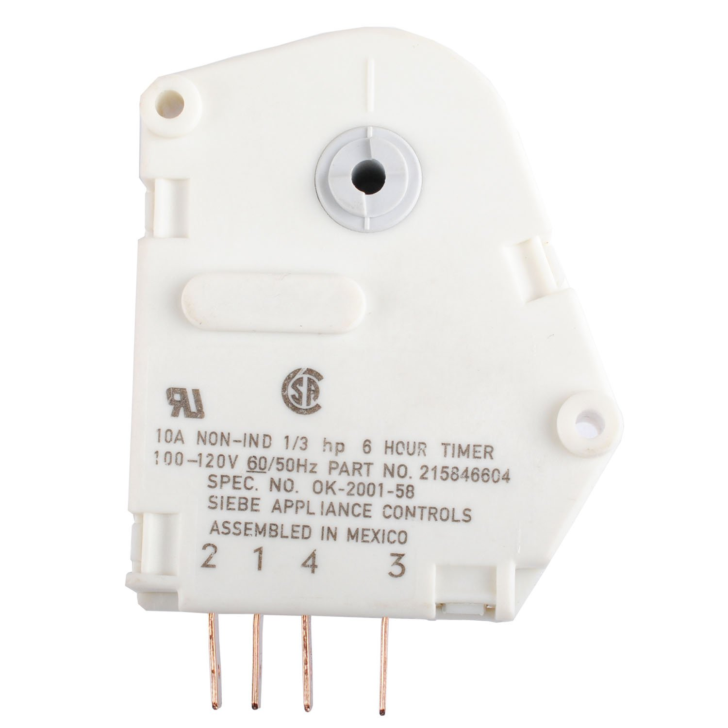 120V 6 Hour 21 Minutes AP2592907 Defrost Timer for Frigidaire 215846604 Fits Refrigerators and Freezers