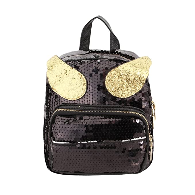 6228dac32d01 Amazon.com | Liliam Girls Cute Sequin Winged Backpack Daypack ...