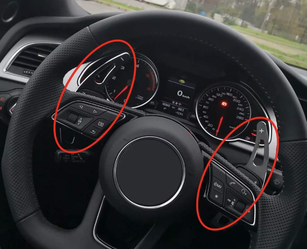 Schaltwippen Verl/ängerung Shift Paddels in Schwarz Passend F/ür A1 A3 A4 A5 A6 A7 Q3 Q5
