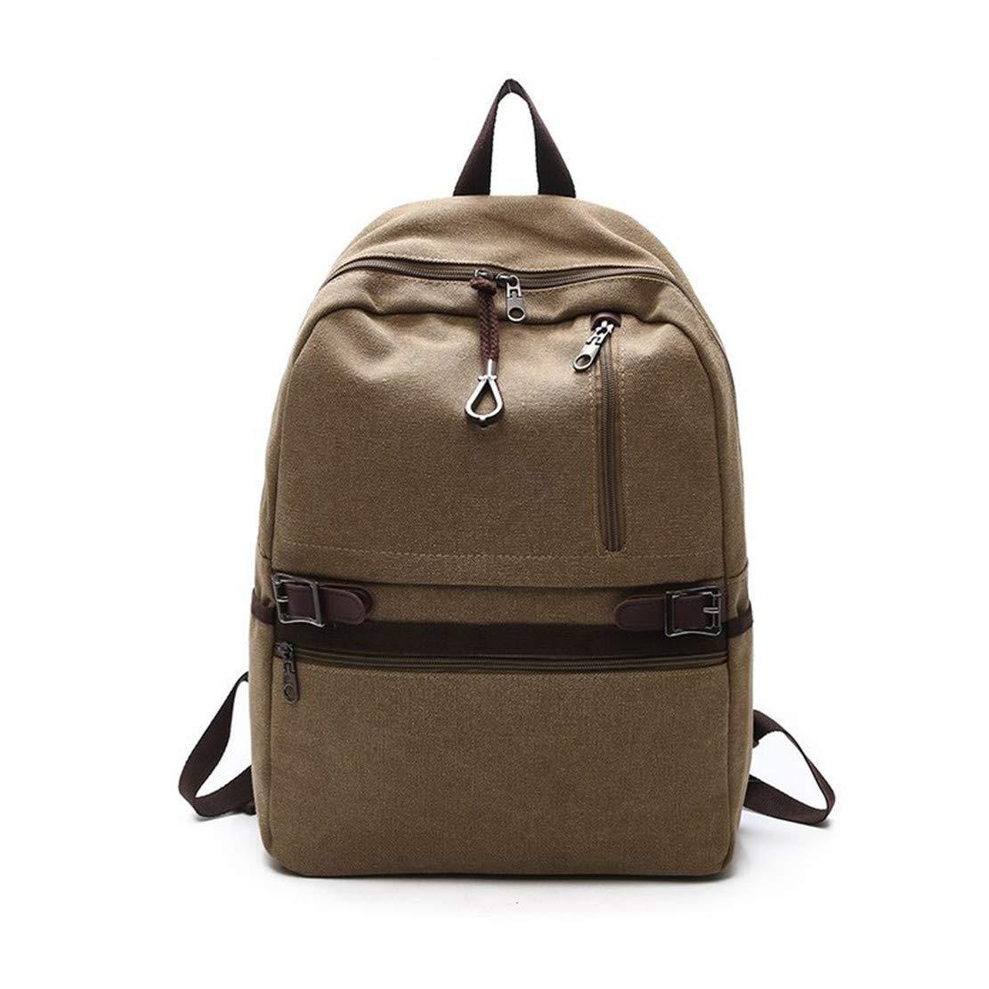 Layxi Grand Loisirs Sac de Voyage Hommes Sac d\'ordinateur Portable 14 Pouces Collège Sacs D\'école Mode Multi-Usage Backpack Toile Cartable