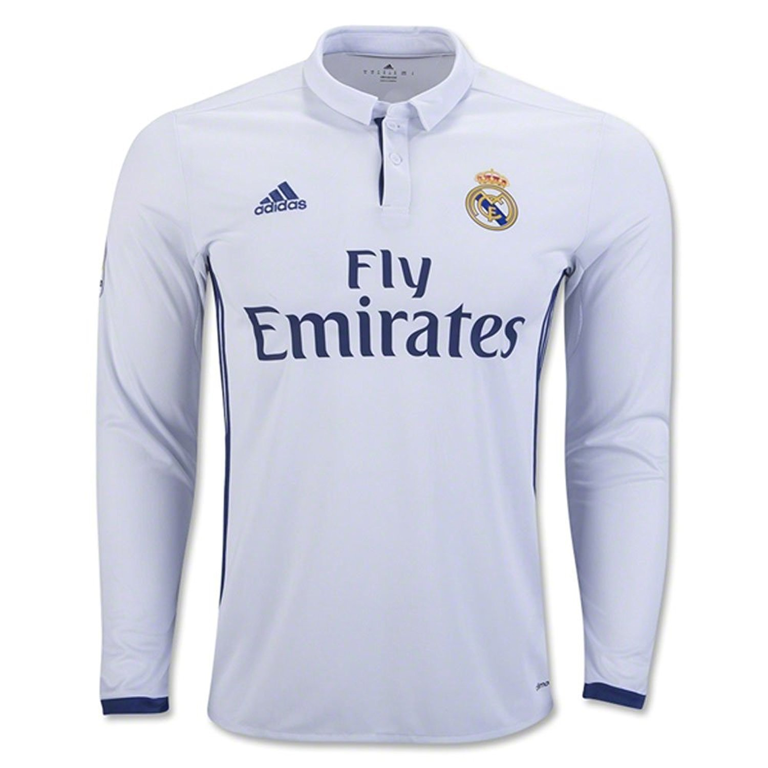 a69f14d5f Amazon.com: Men's Real Madrid Home Long Sleeve Soccer Jersey 2016/17:  Clothing