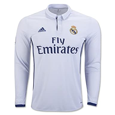 162184997d7 Amazon.com: Men's Real Madrid Home Long Sleeve Soccer Jersey 2016/17 ...