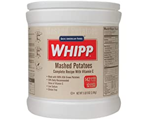 Basic American Foods Whipp Mashed Potato 5.31 Lb Pack Of 6! Complete Instant Mashed Potatoes with Vitamin C! Easy And Tasty Mashed Potatoes! Choose Your Potato Dish! (Mashed Potato)