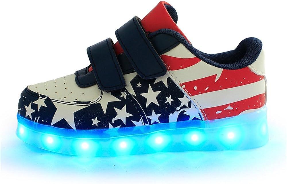 edv0d2v266 Boys Girls Led Light Up Shoes Trainers Flashing Sneakers Best Gift for Kids