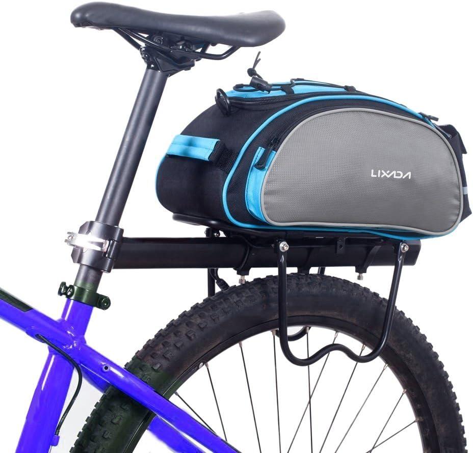 Lixada Bicycle Rack Bag Bike Handlebar Bag Bike Saddle Bag Cycling Bike Rear Seat Cargo Bag MTB Road Bike Rack Carrier Trunk Bag Pannier Handbag