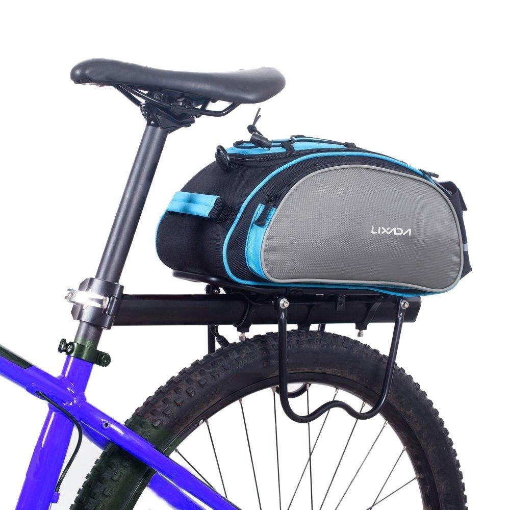 Lixada Bolsa Alforja Trasera para Bicicleta 13L Multifuncional (Azul) product image