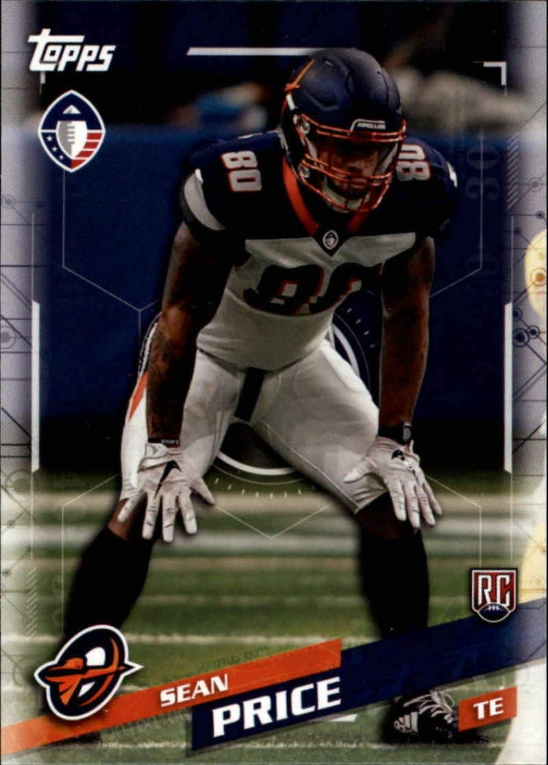 2019 Topps Alliance of American Football #53 Reggie Northrup II RC Rookie Orlando Apollos Official AAF Trading Card