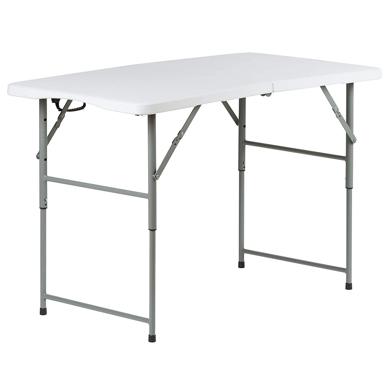 Hartleys Tavolo pieghevole 120 cm Mercatino/Baule/Campeggio/Buffet/Cerimonia Supporto Tavolo Pieghevole
