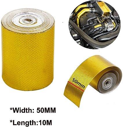 Maso - Cinta adhesiva para conductos (10 x 5 cm), color dorado: Amazon.es: Coche y moto
