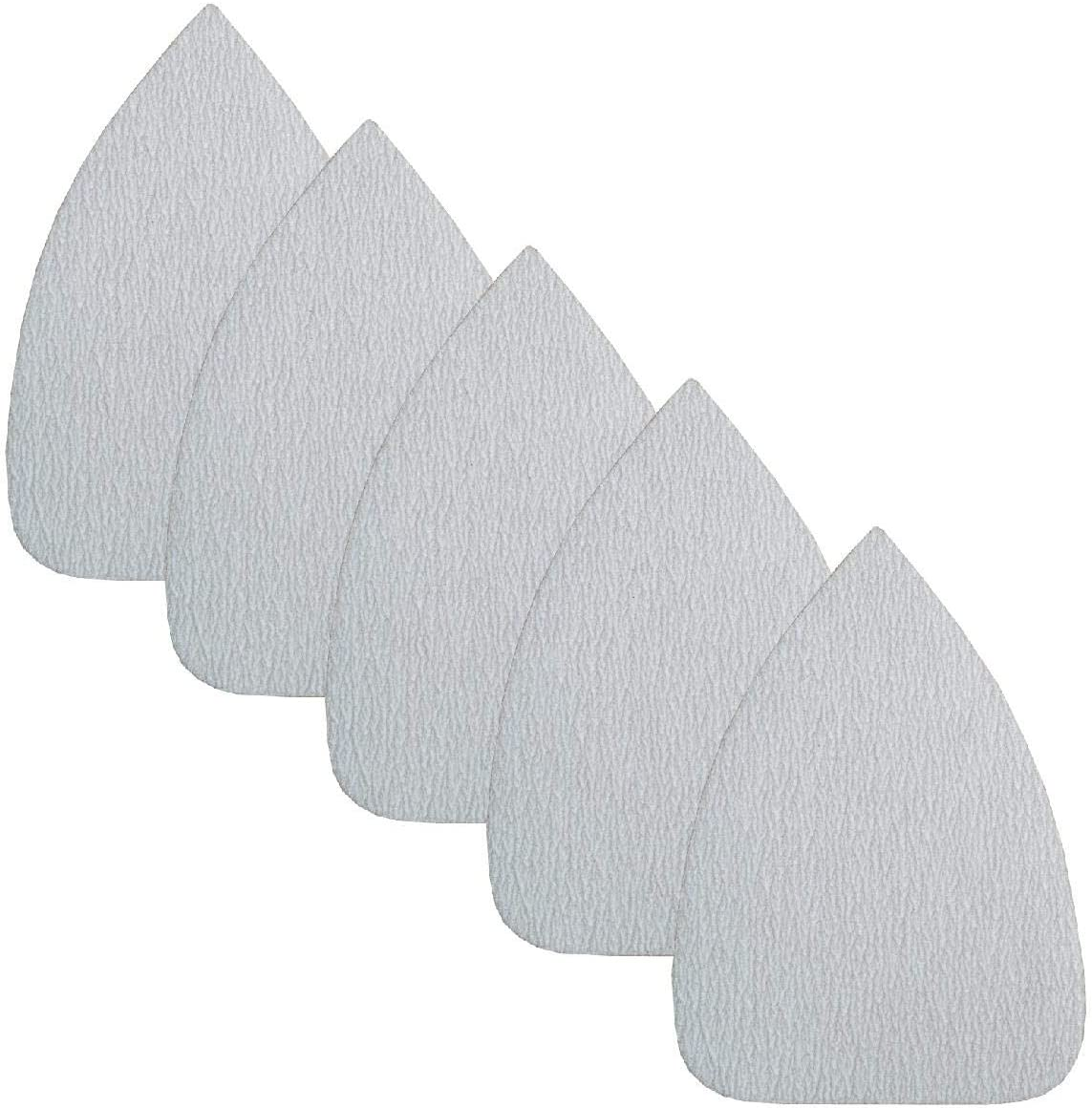5 x Hook and Loop 135 x 95mm Mouse Sanding Sheets 120 Grit Sandpaper Pads