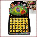 Qiyun Finger Ring 36pcs Party Light Rings Light-up Bright Flashing LED Toys Lights Decoration Multicolor Finger Ring Emoji Expression Toys