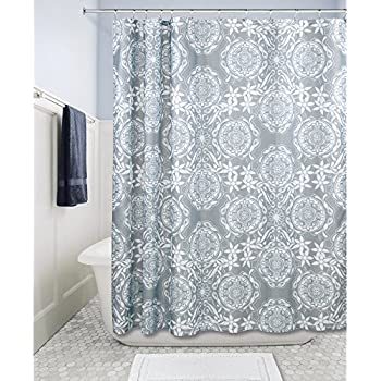 InterDesign Scroll Medallion Fabric Shower Curtain