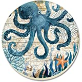 CounterArt Monterey Bay Octopus Absorbent Coasters, Set of 4