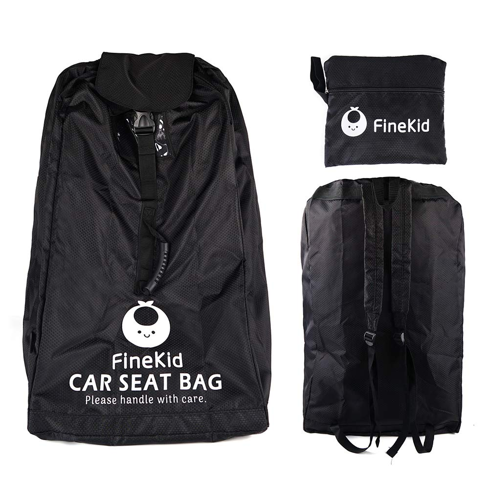 Car Seat Travel Bag for Traveling - Gate Check Bag for Car Seat and Booster Seat - Waterproof and Durable Fabric (Black) by FINDKID