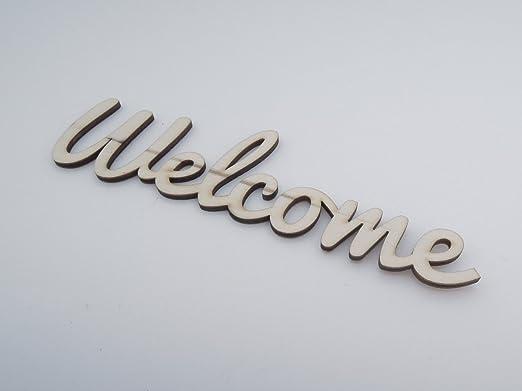 AndedCrafts - Cartel de bienvenida de madera para decoración ...