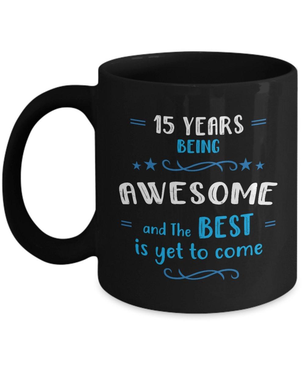 Amazon Happy 15th Birthday Mug