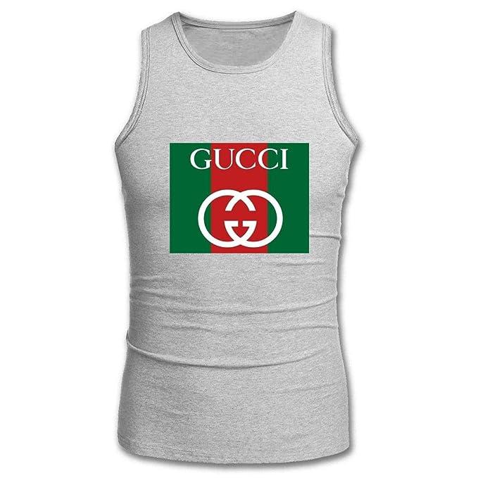 Michael Reid Gucci Logo camisetas para hombre sin mangas camiseta de tirantes: Amazon.es: Ropa y accesorios