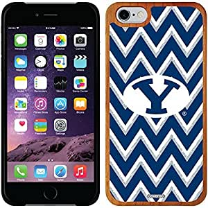 fashion case iphone 4s Madera Wood Thinshield Case with Brigham Young Sketchy Chevron Design