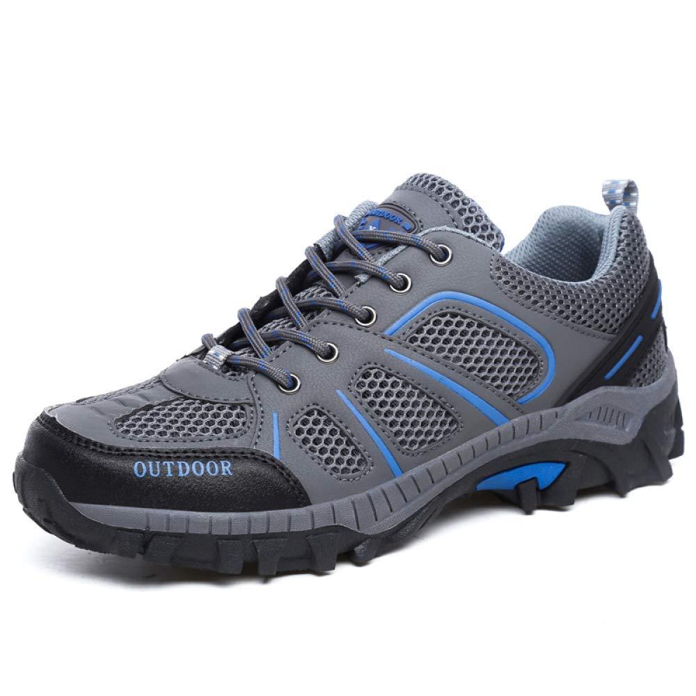 HGDR Männer Wandern Trekking Schuhe Trainer Leichte Mesh Atmungsaktive Draussen Sport Camping Turnschuhe Schwacher Anstieg Wanderschuhe Anti-Rutsch Klettern Laufen Schuhe