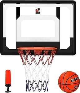 """Cyfie Over-The-Door Basketball Hoop Backboard, 32"""" x 23"""" Basketball Hoops for Home/Office, Basketball Goals for Kids Adults"""