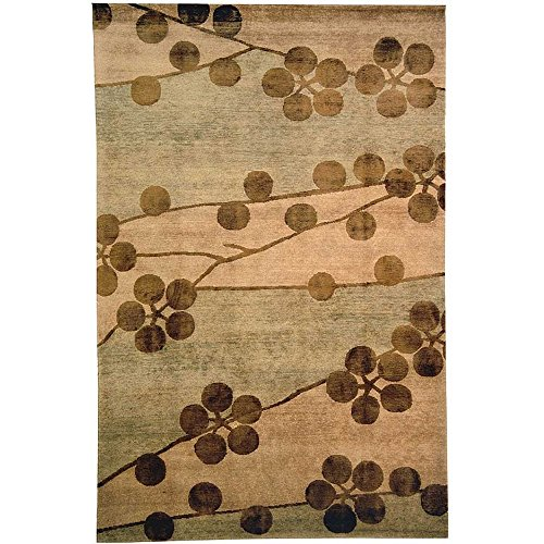 Safavieh Tibetan Collection TB301A Hand-Knotted Beige Silk & Wool Area Rug (4