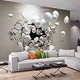 murando® Papier peint intissé 350x245 cm - 3 couleurs au choix - Top vente - Papier peint - Tableaux muraux déco XXL - Abstraction Sphere 3D a-C-0002-a-b