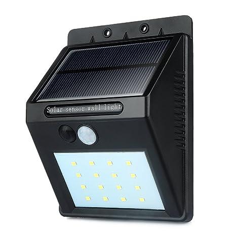 Foco Solar de 8 LED,Lámparas Solares Uniquefire con Sensor de Movimiento,Focos para