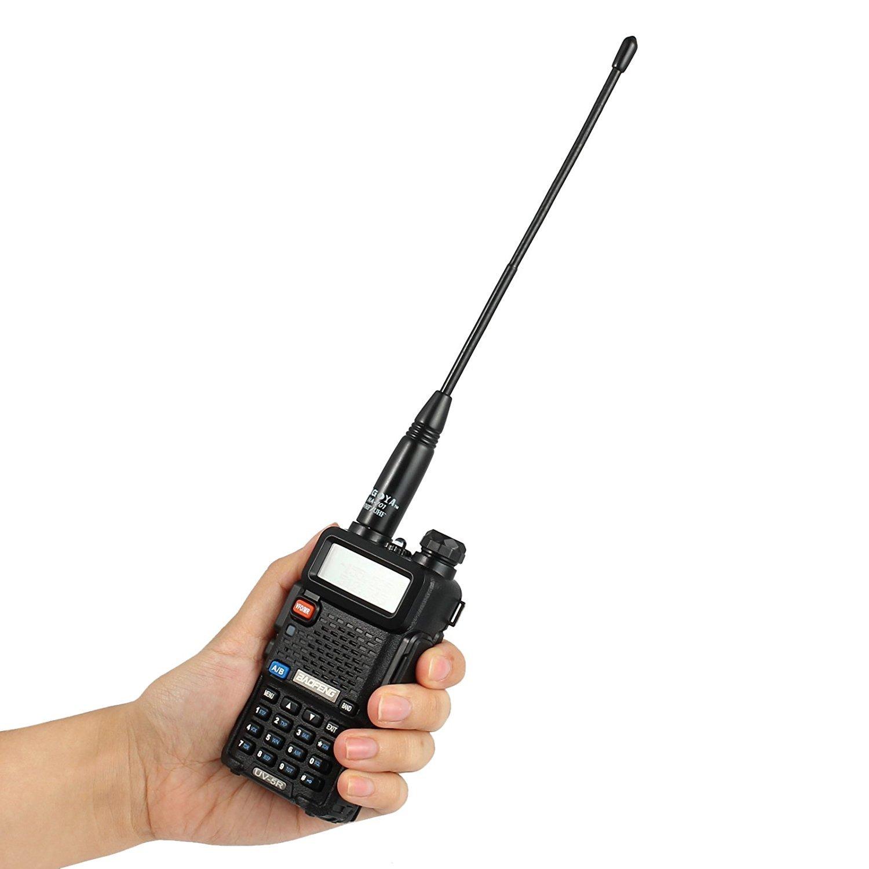 144//430MHz Proster antenne NA-701/Whip VHF//UHF Talkie Walkie antenne SMA-Female haut gain deux voie Radio Antenne pour Baofeng Wouxun Kenwood Linton jingtong