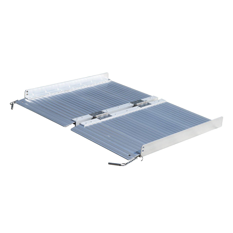 Plata 2 ft portátil plegable de aluminio silla de ruedas rampa para umbral capacidad 600 kg W/Side contracarriles: Amazon.es: Bricolaje y herramientas