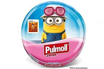 pulmoll Junior - MINIONS pinke Gafas pulmoll Collar Hada Junior Frambuesa con Echinacea + Vitamina C, sin Azúcar con steviolglycosiden, 50 g: Amazon.es: ...
