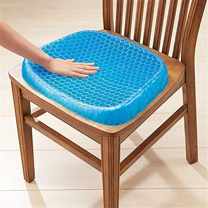 Entwurfs-Sitzauflage f/ür Rollstuhl Stei/ßbein Auto Ischias oder H/üfte zur Verf/ügung B/ürost/ühle Balscw Komfort-selbstk/ühlendes Gel-Stuhl- Egg Sitter,Stellen Entlastung f/ür untereren R/ücken