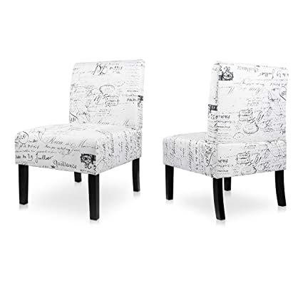 Incredible Aodailihb Armless Accent Chair Modern Fabric Printing Leisure Chair Single Sofa Deco Living Room Bedroom Office Armless Chair Letter 2Pcs Forskolin Free Trial Chair Design Images Forskolin Free Trialorg
