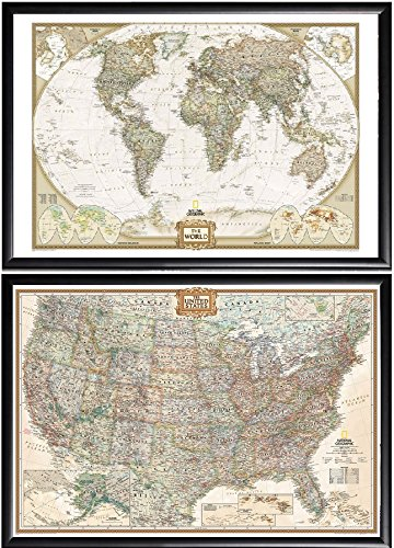 Amazoncom Poster Art House 2 Push Pin Maps By National Geographic - National-geographic-us-map