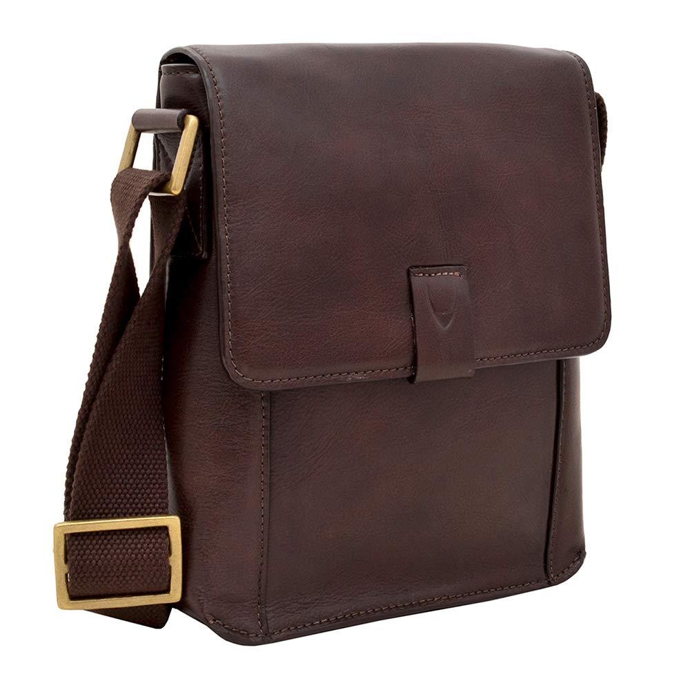 10.5 iPad Bag Travel Bag Hidesign Aiden Genuine Leather Mini Crossbody Men//Women Messenger Bag Tan