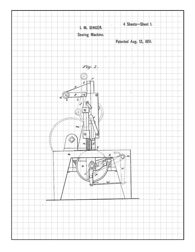 Diagram Of Singer 99 Sewing Machine