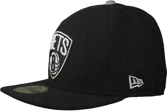 New Era Gorra para Hombre Parcheado Equipo Brooklyn Nets 59Fifty ...