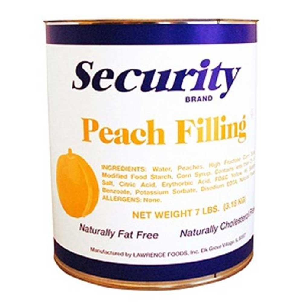 Security Peach Filling, no.10 Can -- 6 per case. by Lawrence Foods (Image #1)