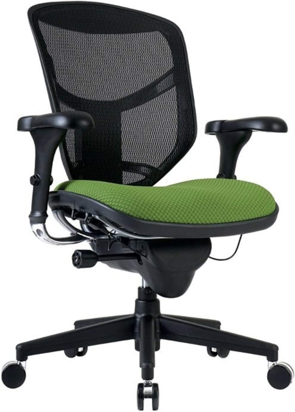 WorkPro Quantum 9000 Ergonomic Mesh/Fabric Mid-Back Manager's Chair, Lime/Black